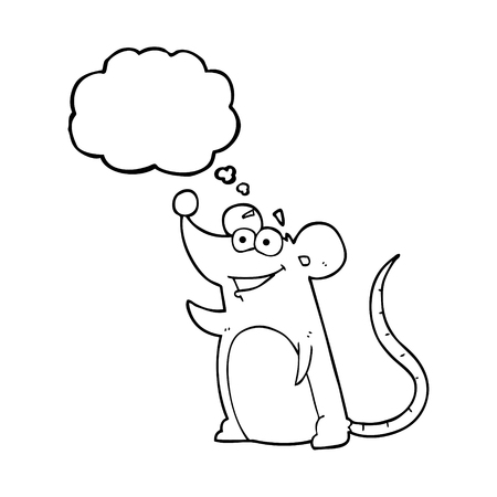 thought bubble: freehand drawn thought bubble cartoon mouse