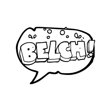belch: freehand drawn speech bubble cartoon belch text