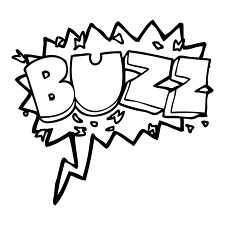 buzz: freehand drawn speech bubble cartoon buzz symbol
