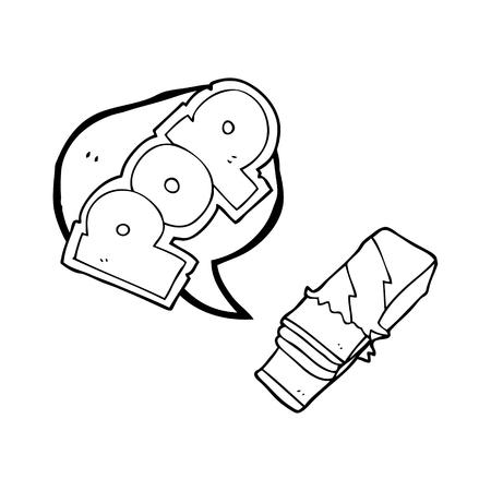 bubble gum: freehand drawn speech bubble cartoon bubble gum