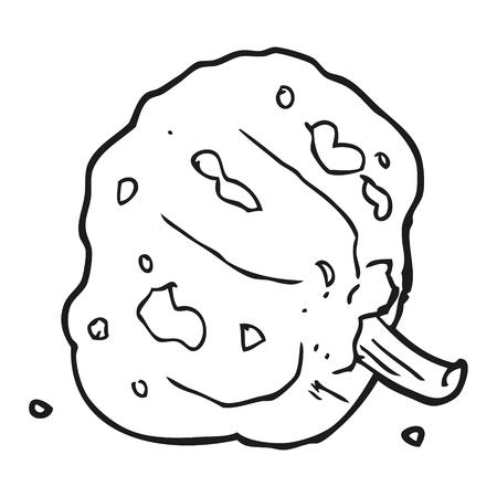 squash: freehand drawn black and white cartoon squash