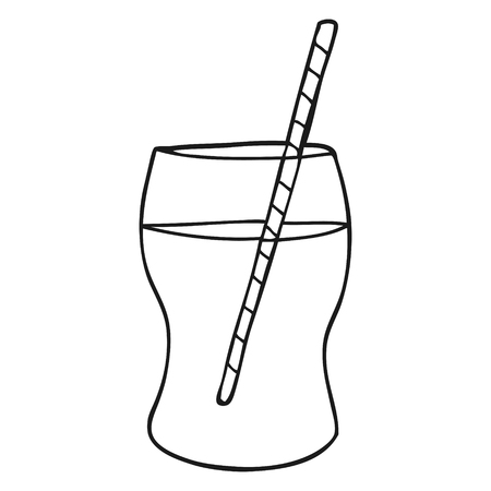 fizzy: freehand drawn black and white cartoon fizzy drink