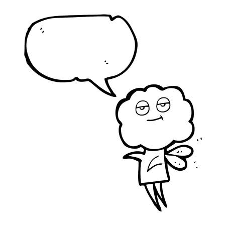 imp: freehand drawn speech bubble cartoon cute cloud head imp