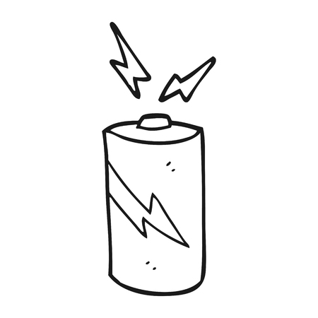 Baterías De Dibujos Animados En Blanco Y Negro Dibujado A