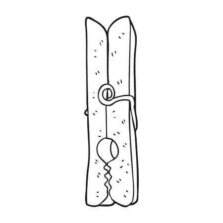 peg: freehand drawn black and white cartoon peg