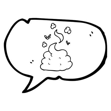 stinking: freehand drawn speech bubble cartoon gross poop