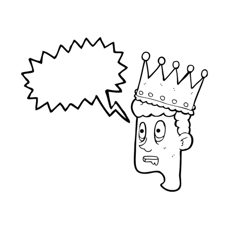 stupor: freehand drawn speech bubble cartoon idiot prince