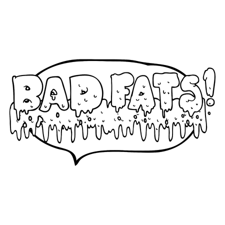 mould: freehand drawn speech bubble cartoon bad fats