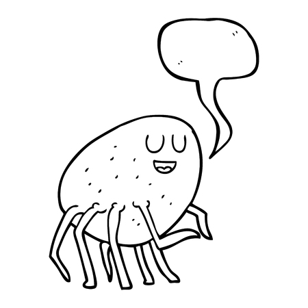 cartoon tick: freehand drawn speech bubble cartoon tick