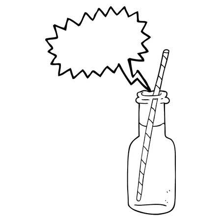 fizzy: freehand drawn speech bubble cartoon fizzy drink bottle