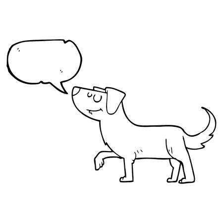 cartoon dog: freehand drawn speech bubble cartoon dog