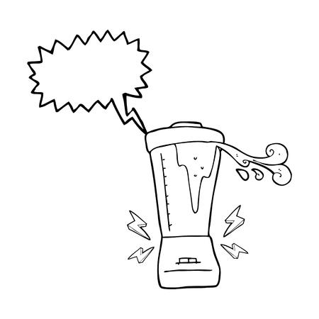 gone: freehand drawn speech bubble cartoon blender gone crazy