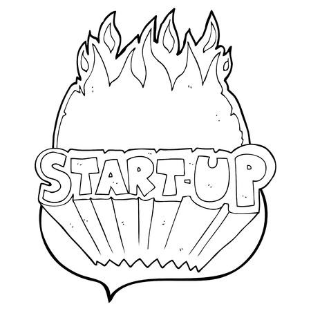 startup: freehand drawn speech bubble cartoon startup symbol