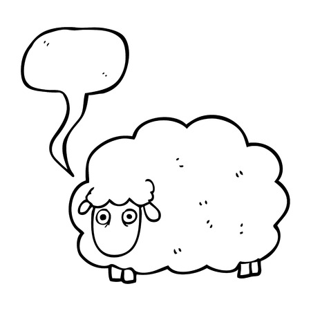 farting: freehand drawn speech bubble cartoon farting sheep