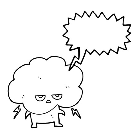 stormcloud: freehand drawn speech bubble cartoon raincloud