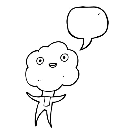 creature: cute cloud head creature