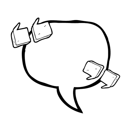 speech marks: freehand drawn speech bubble cartoon quote marks