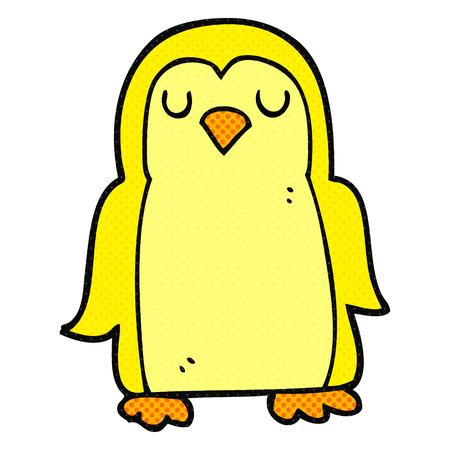 quirky: freehand drawn cartoon bird
