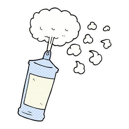 whipped cream: freehand drawn cartoon spraying whipped cream
