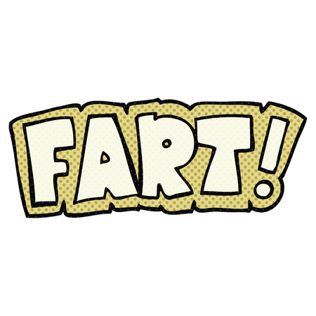 fart: freehand drawn cartoon fart symbol Illustration