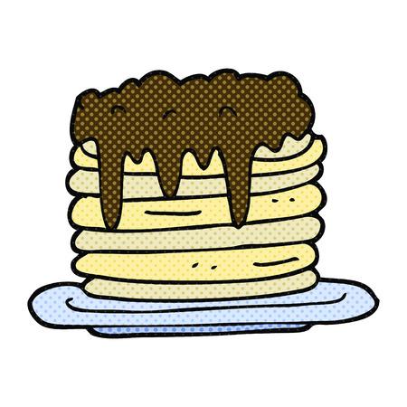 pancake: freehand drawn cartoon pancake stack