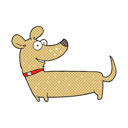 cartoon dog: freehand drawn cartoon happy dog