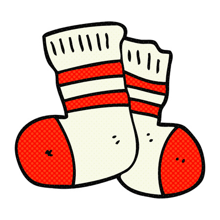freehand dessiné chaussettes de dessin animé