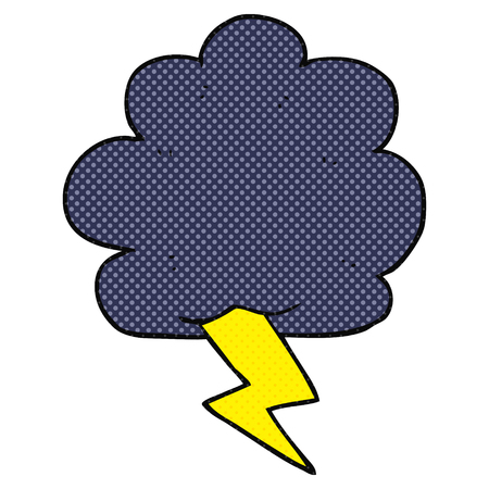 thundercloud: freehand drawn cartoon thundercloud
