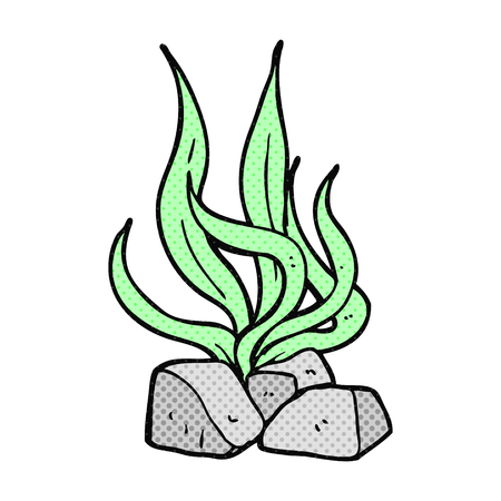 seaweed: freehand drawn cartoon seaweed