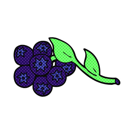 blueberries: freehand drawn cartoon blueberries
