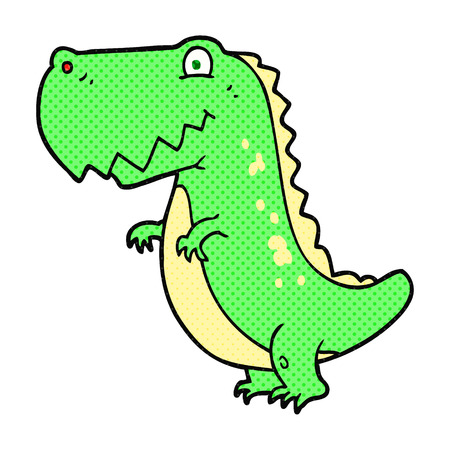 freehand drawn cartoon dinosaur