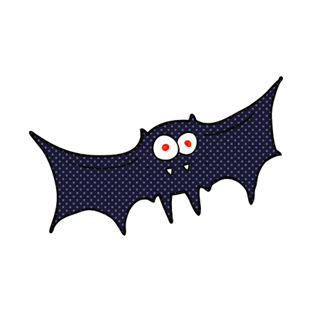 vampire bat: freehand drawn cartoon vampire bat Illustration