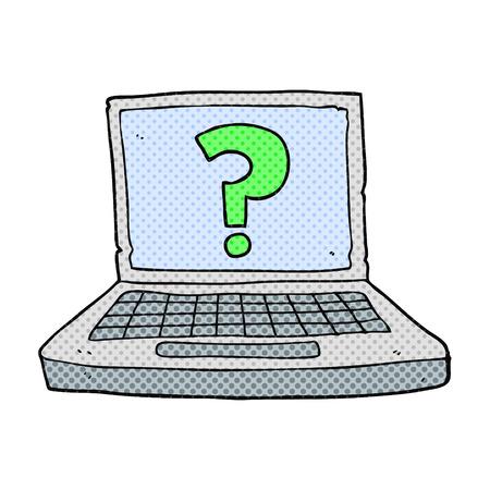 internet search: freehand drawn cartoon internet search Illustration
