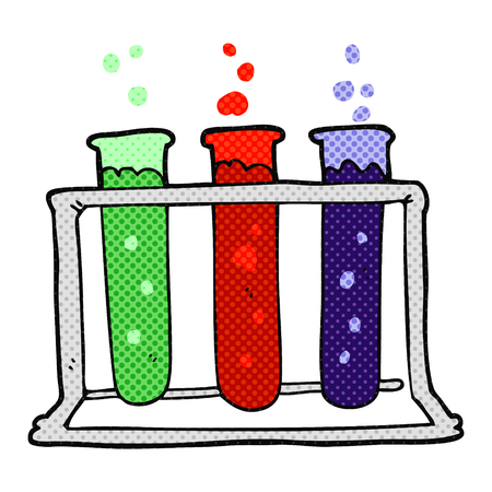 rack: freehand drawn cartoon rack of test tubes