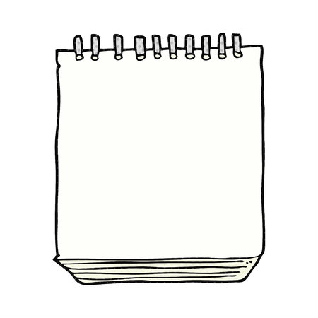 freehand drawn cartoon notepad