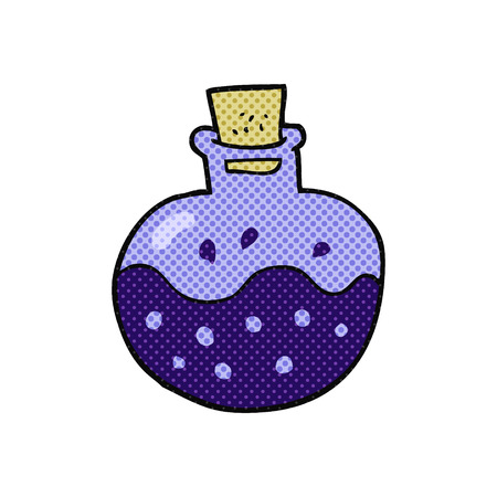 potion: freehand drawn cartoon science potion