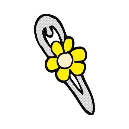 hair clip: freehand drawn cartoon hair clip