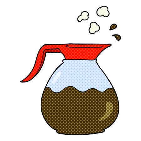 jug: freehand drawn cartoon coffee jug