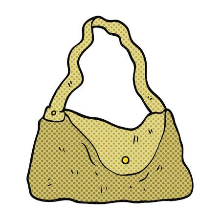 handbag: freehand drawn cartoon handbag Illustration