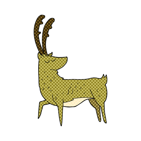manly: freehand drawn cartoon manly stag