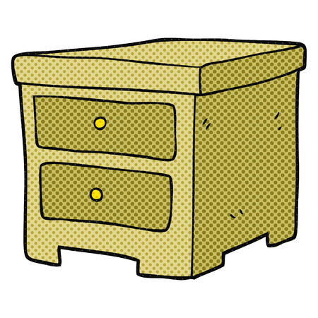 drawers: freehand drawn cartoon chest of drawers