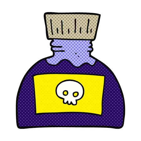 poison: freehand drawn cartoon poison