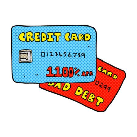 freehand drawn cartoon credit cards