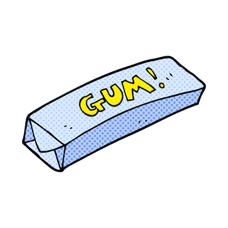 chewing gum: freehand drawn cartoon chewing gum