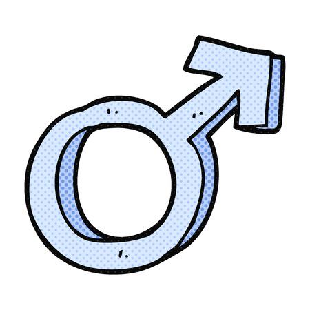 male symbol: freehand drawn cartoon male symbol Illustration