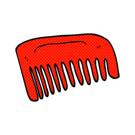 quirky: freehand drawn cartoon comb