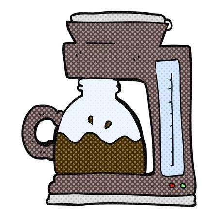 coffee filter: freehand drawn cartoon coffee filter machine