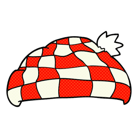 checked: freehand drawn cartoon checked hat