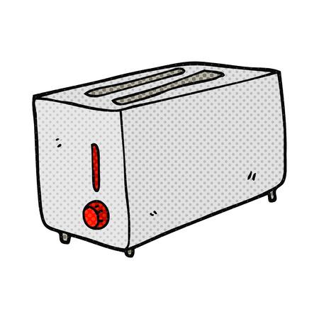 freehand drawn cartoon toaster