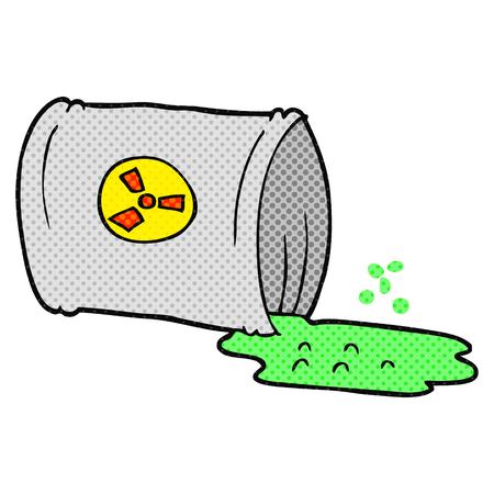 nuclear waste: freehand drawn cartoon nuclear waste